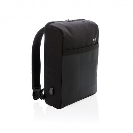 "Swiss Peak 15"" anti-theft RFID & USB backpack PVC free"