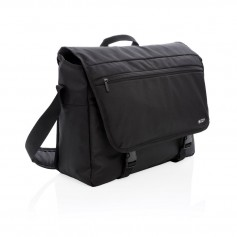 "Swiss Peak RFID 15"" laptop messenger bag PVC free"