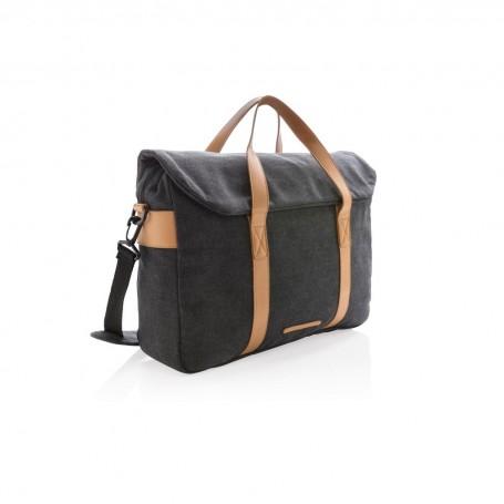 Canvas laptop bag PVC free