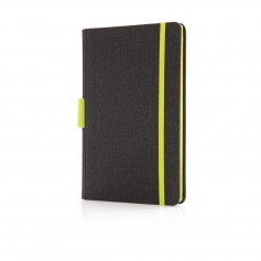 Deluxe A5 notebook with pen holder