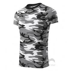Reklaminiai kamufliažiniai marškinėliai CAMOUFLAGE BLACK/WHITE su logotipu