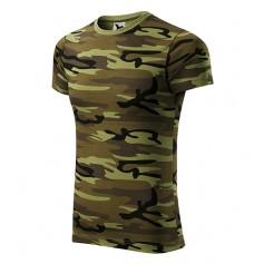 Reklaminiai kamufliažiniai marškinėliai CAMOUFLAGE GREEN su logotipu