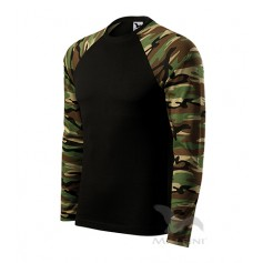 Reklaminiai kamufliažiniai marškinėliai CAMOUFLAGE GREEN/BROWN ilgomis rankovėmis