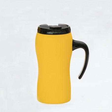 """Reklaminis termo puodelis su logotipu, užrašu """"SIM"""""""