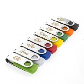 """Spalvingas reklaminis USB raktas su logotipu """"TWIST"""""""