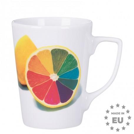 """Patogus porcelianinis puodelis su Jūsų logotipu """"FOX"""""""