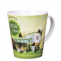 "Klasikinis keramikinis puodelis su logotipu ""ROCKET"""