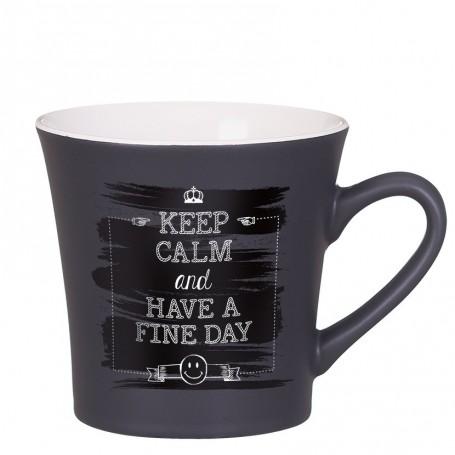 """Reklaminis keramikinis puodelis su logotipu """"TEMP"""""""