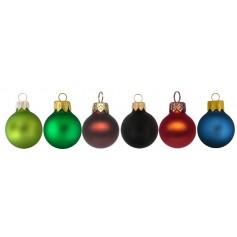 Matinės spalvos kalėdiniai žaisliukai su spauda