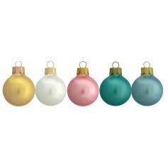 Kalėdiniai perlo efekto žaisliukai su spauda PEARL