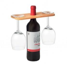 Vyno ir taurių laikiklis su Jūsų spauda ECO
