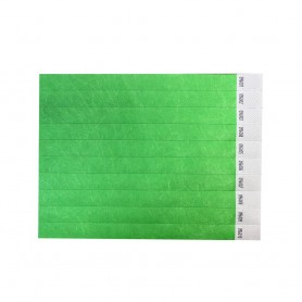 Žalios spalvos popierinės apyrankės