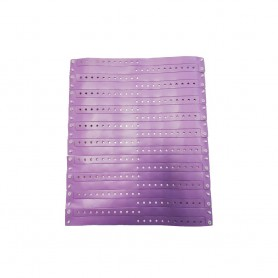 Violetinės vinilinės apyrankės su logotipu