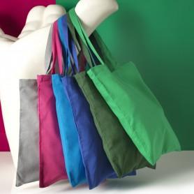 Reklaminis medvilninis pirkinių maišelis su spauda, 100 g/m2