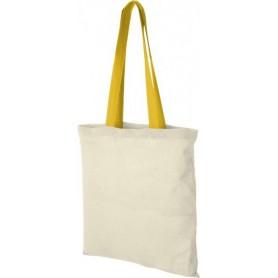 Medžiaginiai maišeliai su spalvotomis rankenomis 100g/m2