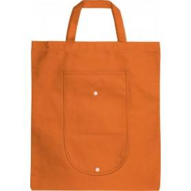 Reklaminiai sulankstomi neaustiniai maišeliai su kišene 80g/m2