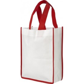 Reklamniniai neaustiniai maišeliai su spalvotomis rankenomis