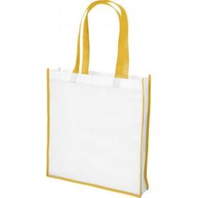 Reklamniniai neaustiniai dideli maišeliai su spalvotomis rankenomis