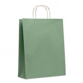 Reklaminiai dideli įvairių spalvų popieriniai maišeliai 90g/m2
