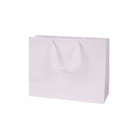 Reklaminia balti laminuoti talpūs maišeliai 150g/m2