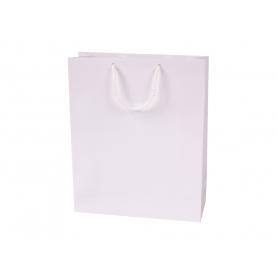 Reklaminiai balti laminuoti maišeliai 150g/m2