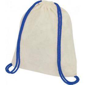 Reklaminiai sportiniai maišeliai su spalvotomis virvelėmis 100g/m2