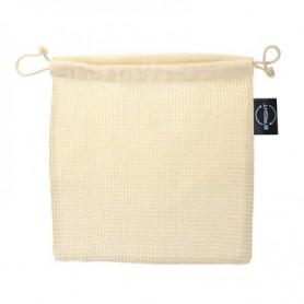 Reklaminiai medvilniniai maišeliai su tinkleliu 150g/m2