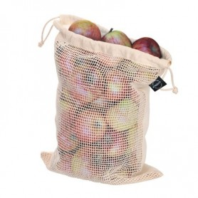 Reklaminiai dideli medvilniniai maišeliai su tinkleliu