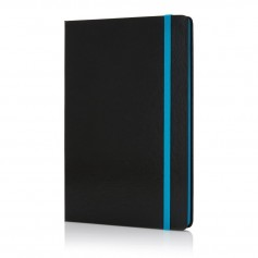 Deluxe hardcover A5 notebook with coloured side