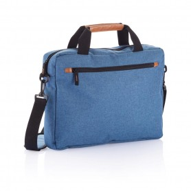 Fashion duo tone laptop bag