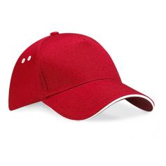 """Reklaminės 5P beisbolo kepurėlės su spalvos dėtalėmis """"SANDWICH PEAK"""""""