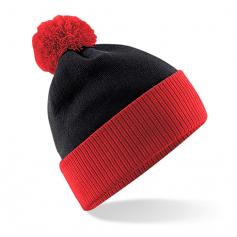 """Reklaminės žieminės kepurėlės su burbulu """"TWO - TONE"""""""
