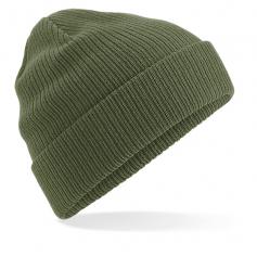 """Reklaminės žieminės organinės medvilnės kepurėlės su spauda """"ORGANIC"""""""