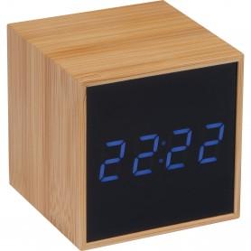 """Reklaminiai mediniai staliniai laikrodžiai su logotipo spauda """"WOOD"""""""