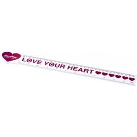"""Reklaminės širdelės formos liniuotės su logotipu """"HEART"""""""