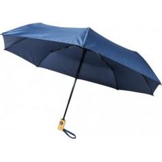 """Reklaminiai ekologiški skėčiai su spauda """"RECYCLED"""""""