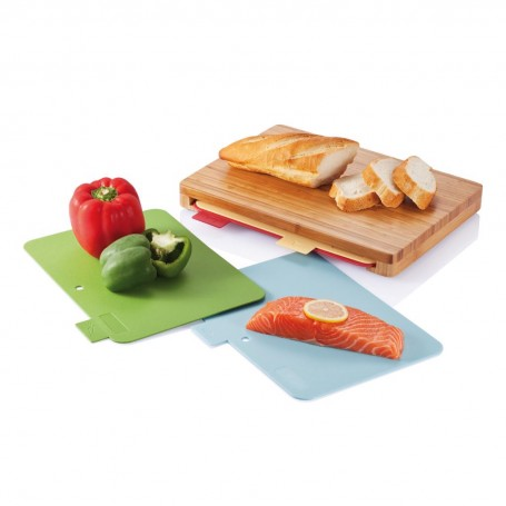 Cutting board with 4pcs hygienic boards