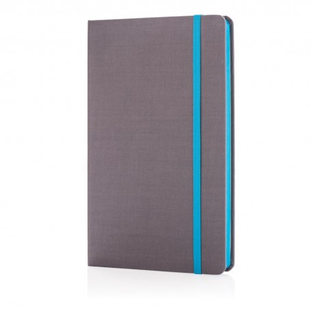 Deluxe fabric notebook with coloured side