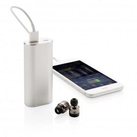 True wireless earbuds with 2.000 mAh powerbank