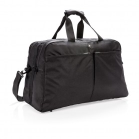 Swiss Peak RFID duffle with suitcase opening
