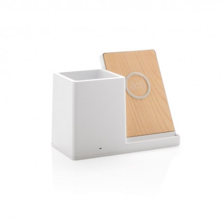 Ontario 5W wireless charger with pen holder