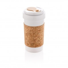 ECO PLA 400ml can with cork sleeve